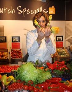 Angélique Schmeinck met de Courgette Fleur