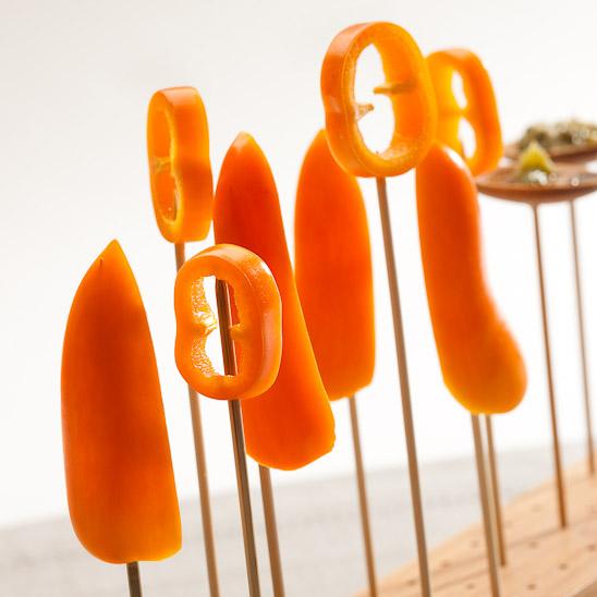 Lekkere dippings bij de Snackpaprika's.