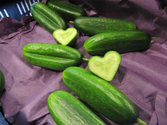 hartvormige komkommers